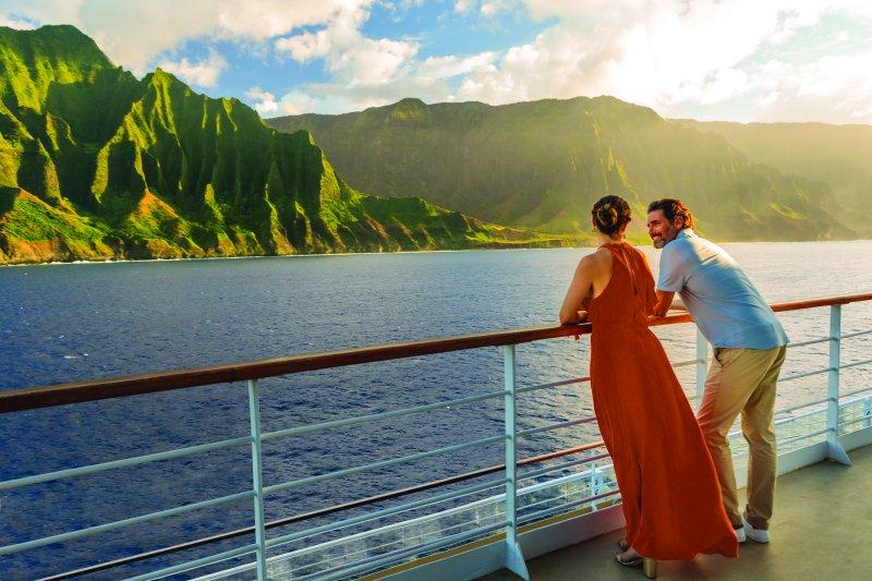 Hawaii; Na Pali; Rail; Sunset